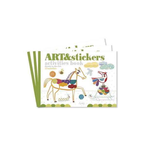 Grāmata radošai spēlei Art&Stickers