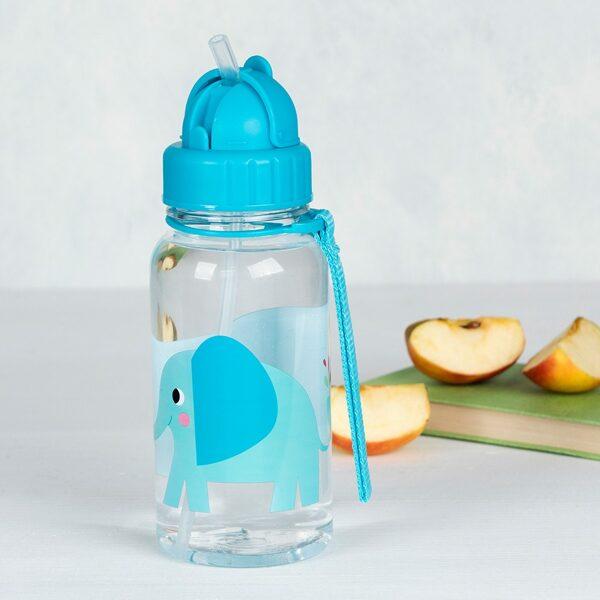 Ūdens pudele ar salmiņu Elvis The Elephant 500 ml
