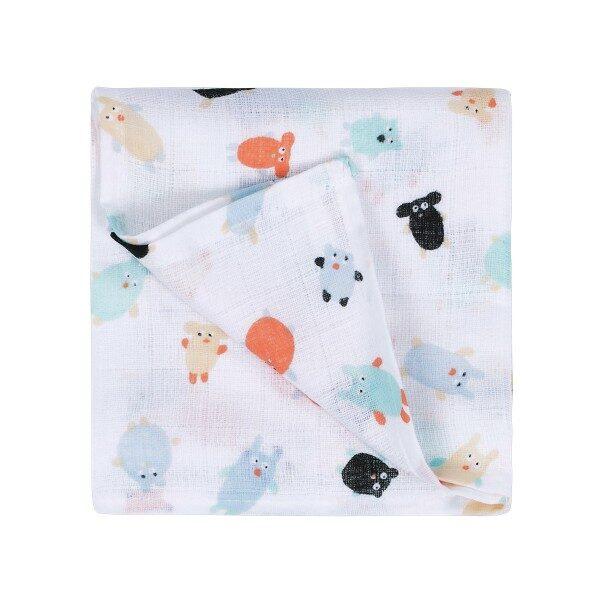 Maison Petit Jour® Muslīna Autiņš Fluffy Buddies 70x70 cm