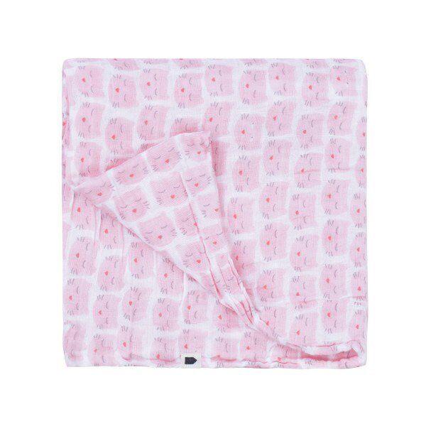 Maison Petit Jour® Muslina Autiņš Pink Cats 70x70 cm