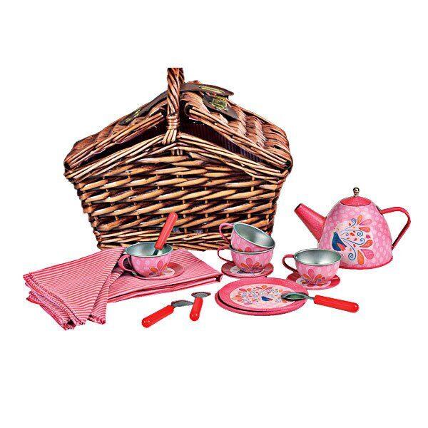 Tējas Piederumu Komplekts Un Pīts Grozs
